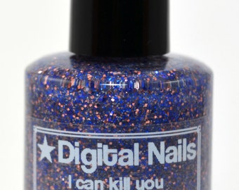 I can kill you with my brain: Firefly's River inspired nail polish by Digital Nails