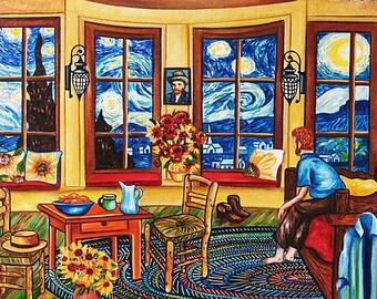 Art Print, van Gogh Print, van Gogh Art Print, Vincent van Gogh, Starry Night, van Gogh, Wall Art Print. Home Decor