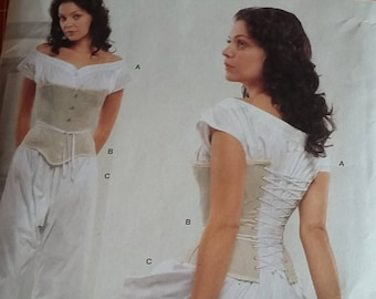 Butterick B2890 corset, drawers, chemise sizes 8, 10, 12, 14