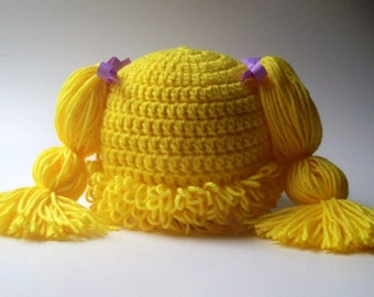 Cabbage Patch Hat, Cabbage patch costume, crochet cabbage patch