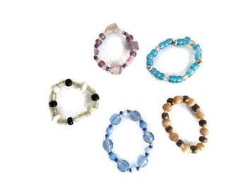 Doll bracelet set,18 in doll jewelry,doll stretch bracelet,doll beaded bracelet,18 inch doll bracelet,girl doll jewelry, bracelet collection