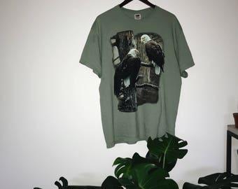 XL Green Eagle T-shirt