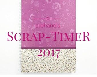 Wochenkalender Scrap-TimeR, A4, groß 132 Seiten, individualisierbar, Designerpapier, Monatsübersichten, Notizen, zum kreativen Gestalten