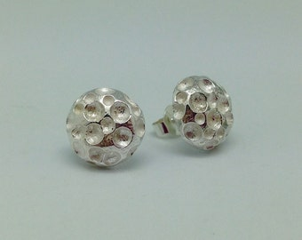 Ear studs in gold plated silver 'Moonstruck'