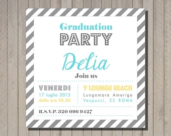 Pdf, Printable Graduation party invite, unique graduation invitations,High School Graduation Invite, wedding shower invitation