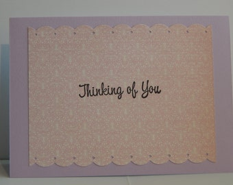 Thinking of You Card, Purple and Pink