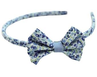 Liberty blue and green headband / bow headband