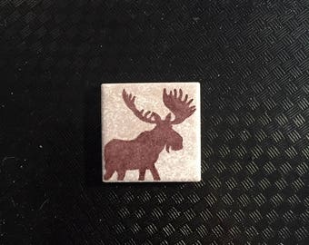 "2""x2"" - Tile Magnet - Moose Silhouette"
