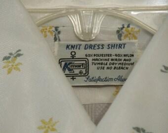 Vintage semi sheer mens shirt size 15 1/2