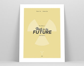 Back to the Future ~ Minimalist Poster, Gifts for Him, Fathers Day Gift, Art Print, Wall Art, Wall Decor