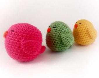 Crochet Birds, Animal nursery, Baby toy, Stuffed toy, Stuffed bird toy, Stuffed animal, Baby shower gift