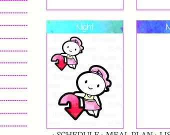 Bella - DOWNLOAD TIME Planner Sticker w/ Silhouette Studio File, song, emails, itunes, Erin Condren, Filofax, Kikki K, Print & Cut S024