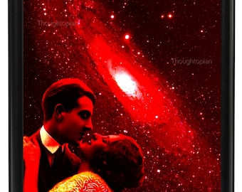 Romantic Outer Space Art Print 8 x 10 – Art Deco Flapper Psychedelic Trippy Visionary Festival Artwork - Pop Art - Surreal Galaxy Universe