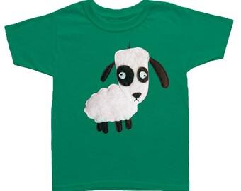 mi cielo x Matthew Langille - Sheep – Kelly Green Kids T-Shirt – Boys or Girls