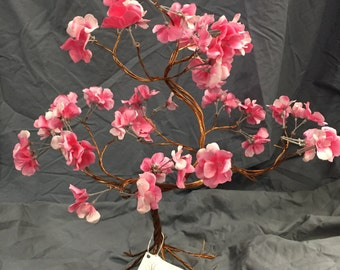 Pink flower copper tree