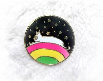 Cat Enamel Pin, Cat Lapel Pin, Rainbow Enamel Pin, Space Enamel Pin, Cat Pin, Cute Pin, Star Enamel Pin