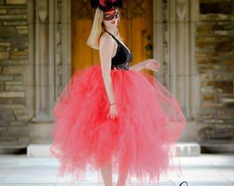 Red Tutu Skirt, Adult Red Tutu, Halloween Tutu, Costume Tutu, Tutu Skirt, Adult Tutu Skirt, Halloween Costume Tutu Skirt