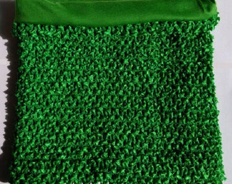 STRAPLESS stretch Double 2-6 years green crochet for creating dress tutu costume