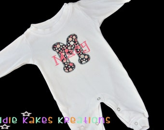 Personalized Baby Sleeper - Baby Romper - Baby Girl Outfit - Baby Boy Outfit - Coming Home Outfit - Monogrammed Sleeper - New Baby Outfit