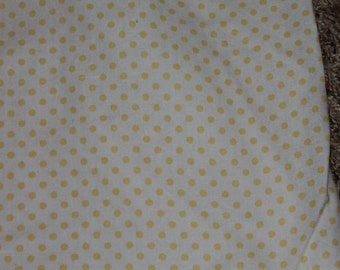 Yellow and White Polka Dot Crib/Toddler Bed Fitted Sheet