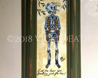 Stripped - Original Framed Painting