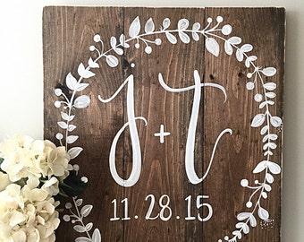 Wedding Decor   Monogram Wedding Sign   Established Date   Home Decor   Wood Sign   Wood Wedding Signs   Rustic Wedding Decor   Initials