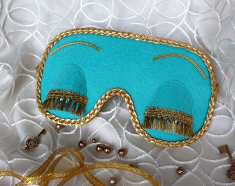Gift for Her - Breakfast at Tiffany's and Audrey Hepburn in role of Holly Golightly sleeping mask in Tiffany and CO blue color