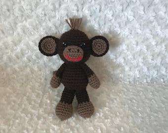 Little stuffed monkey Amigurumi, baby toy, gift
