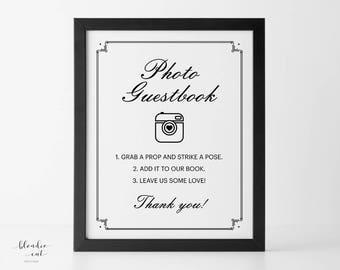 Photo Guestbook 8x10 Printable, Photo Guestbook Sign, Photo Guestbook Printable, Photo Guest Book Sign, Photo Guest Book Printable