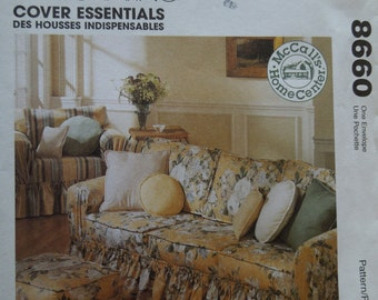 McCalls 8660, pillows and furniture covers, home living, UNCUT sewing pattern,craft supplies