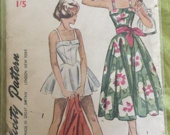 Badeanzug Kleid Schnittmuster - ca. 1950er Jahre
