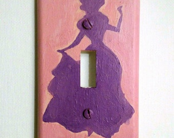 Single switch plate cover - princess silhouette