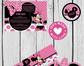 18 minnie mouse invitation also  tags label party birthday english or spanish