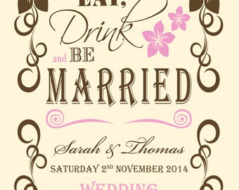 Eat, Drink & Be Married Invitation