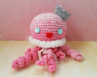 Jellyfish Amigurumi  / Amigurumi Qualle / ready to Ship!