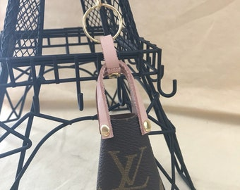 Handmade Louis Vuitton upcycled baby Neverfull charm