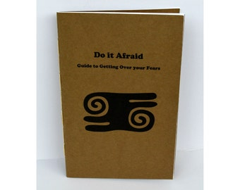 Mini Guide, 24 page zine, Getting over your fears, Do it Afraid, self help zine, mini guide, inspirational book, spiritual health