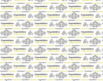 Personalised Wrapping Paper Engagement Wedding Gift Wrap