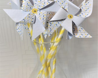 5 PINWHEELS to wind matched and customized to your colors