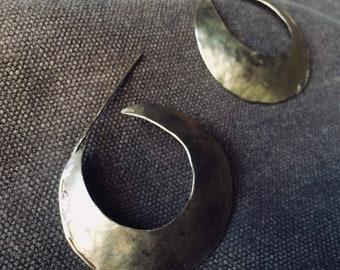 Yellow brass earring