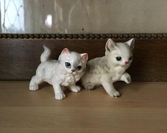 VTG Norcrest Ceramic Persian Cat Figurines