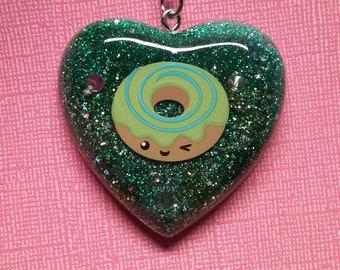 Kawaii Resin Keychain Swirl Donut Resin Keychain Charm