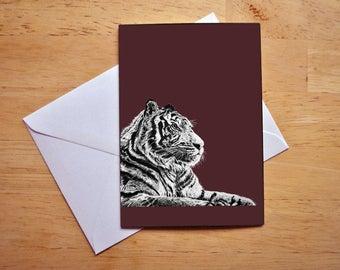 Tiger Greeting's Card