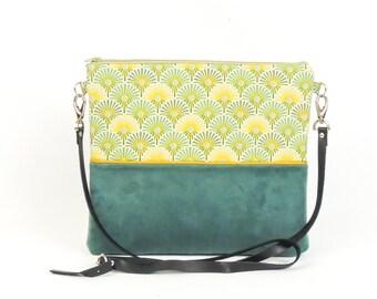 Green Velvet clutch bag