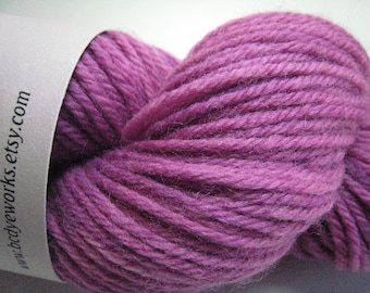 Sugarplum - pink magenta worsted weight peruvian wool