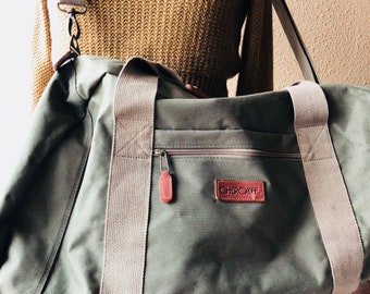 Leather Canvas Duffle Bag Leather Travel Bag Cherokee Backpack