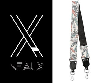Vintage style BAG strap by NEAUX - Bird Feathers