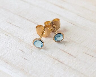 Sky Aqua Crystal Earrings