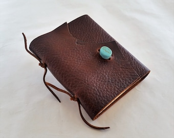 Brown Leather Journal, Rustic Leather Journal, Travel Journal,