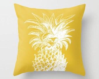 Pineapple Pillow   - Yellow pillow  - Modern Home Decor - By Aldari Home